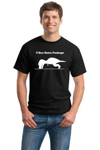 T-Rex No Like Push-ups (Ai T-Rex Non piacciono Le Flessioni) - Maglietta Divertente T-Rex - Ideale per Workout e Allenamento - T-Shirt Uomo/Unisex con Scritta - Piccolo - S