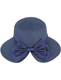 ZiXing Donne Bowknot del Cappello del Sole della Spiaggia del Cappello di  Estate Cappello da Sole f3bdad458f9f