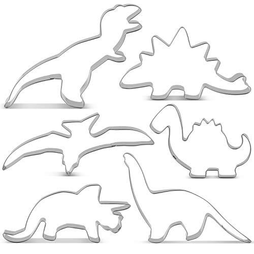 Kostüm Design Umriss - KENIAO Dinosaurier Ausstechformen Set Ausstecher