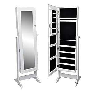 vidaxl armoire bijoux sur pied avec miroir. Black Bedroom Furniture Sets. Home Design Ideas