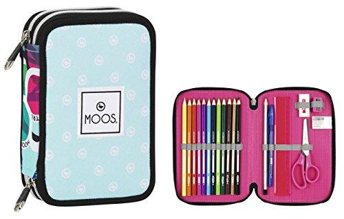 MOOS – Plumier Doble, diseño Gafas, 34 Piezas, 13 x 20 cm (SAFTA 411523054)