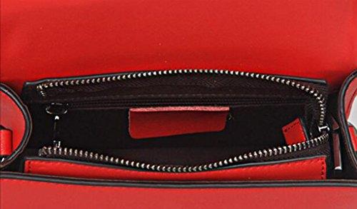 La Signora Semplice Pelle Mini Piccolo Pacchetto Piazza Portatile Red