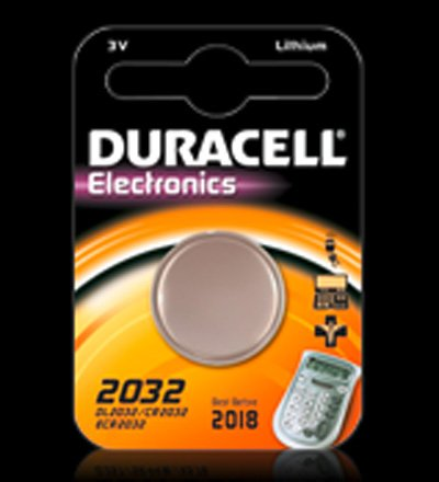 Duracell® Pile bouton au lithium, cr 2032, 1 pièce