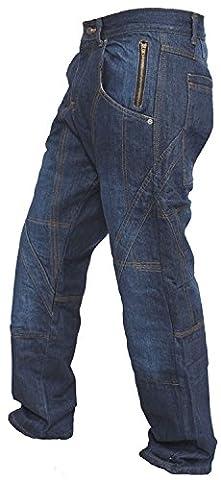 pantalon denim bleu les armures des hommes moto moto de