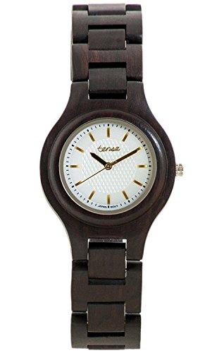 tense-g7509d-wg-unisex-oscuro-pequena-madera-de-sandalo-bracelete-esfera-blanca-del-pacifico-reloj