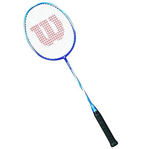 Wilson Raquette de Badminton Homme/Femme, Jeu Offensif, Avancés, RECON 350, Taille 4, Bleu/Bleu marine, WRT8619004