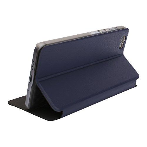 OCUBE Ledertasche Tasche für Vernee Mars Pro, Hülle Handyhülle Handytasche lederhülle Ledertasche mit Aufstellfunktion Tasche Flip Case Brieftasche für Vernee Mars Pro -Blau
