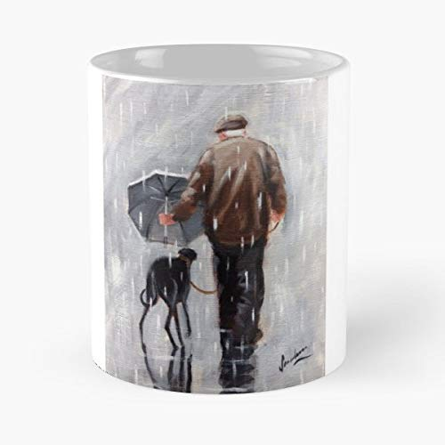 Greyhound Whippet Rain Winter Dog - Il miglior regalo di tazza da caffè in ceramica da 11 once