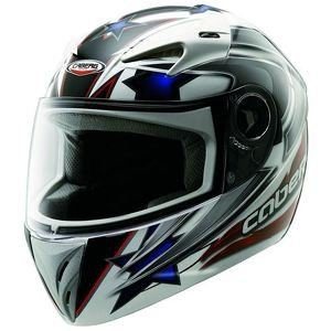 CABERG V-KID LEO MOTORBIKE RACING FULL FACE JUNIOR MOTORCYCLE HELMET WHITE/BLU/RED - White - S