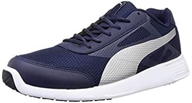 Puma Men's Trenzo Ii Idp Peacoat-Silver Running Shoes-6 UK (39 EU) (7 US) (36828610_6)