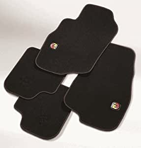 tapis de sol en tissu pour fiat 500 x abarth avec logo. Black Bedroom Furniture Sets. Home Design Ideas