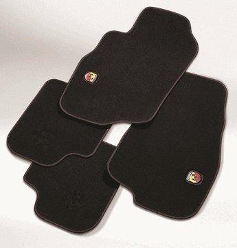 Abarth-logo (Textil Fußmatten für Fiat 500X Set mit Abarth Logo)