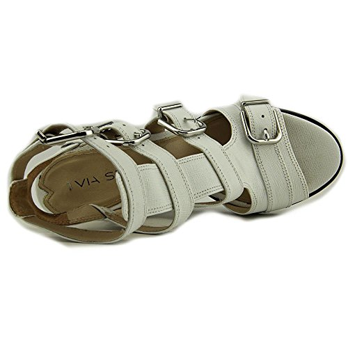 Via Spiga Luxie Leder Keilabsätze Sandale White