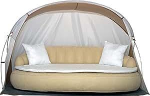 Dekovita lettino gonfiabile 220x130cm letto divano isola incl materasso cuscino baldacchino 2 3 - Letto gonfiabile amazon ...