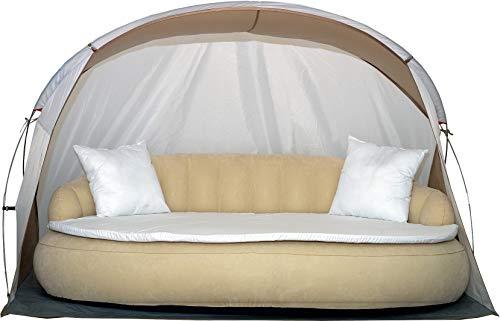 Dekovita Tumbona de jardín hinchable 220x130cm Sofá cama incl. Almohada Colchón Canopy...