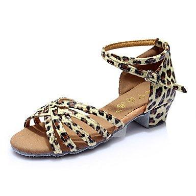 Scarpe da ballo-Non personalizzabile-Da donna-Balli latino-americani-Quadrato-Finta pelle-Nero / Marrone / Argento / Dorato / Leopardato leopard