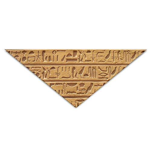 ischer Hieroglyphe-Baby-Haustier-Dreieck-Kopftücher-Hundeschalwelpen-Dreieck ()