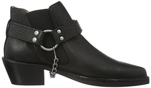 SELECTED FEMME Sfrock Grained Boot, Bottines non doublées femme Noir - Noir