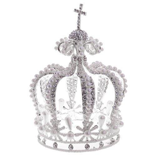 MagiDeal Corona Tiare Diadema Regalo Barocco Stile Retro Cerimonia Nuziale Carnevale Costume Cosplay