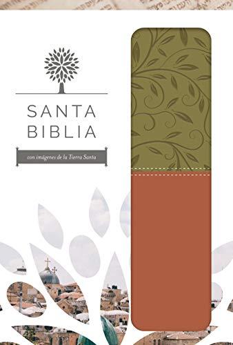 Santa Biblia RVR 1960 - Letra grande, imitación piel verde/marrón, imágenes de de Tierra Santa / Spanish Holy Bible RVR 1960 - Large Print (1960 Biblia Rvr)