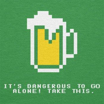 Texlab–Dangerous Beer–sacchetto di stoffa Verde