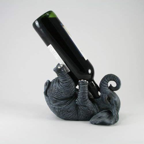 Weinflaschenhalter - Lustiger Elefant # Deko für Küche und Gastronomie