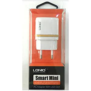 Okayji LDNIO DL-AC50 USB AC Power Charger Adapter Samsung, Micromax, Nokia, Xolo, Lava, Karbonn, Apple Phones - White (EU Plug)