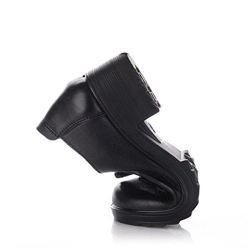 Chaussures femme/Ethnique souliers pour dames âgées et vieilles/Maman et chaussures de fond mou/Rétro d'âge femmes shoes A