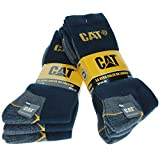 Caterpillar CAT Men's Works Socks (6-9, 6 Blue Pair)