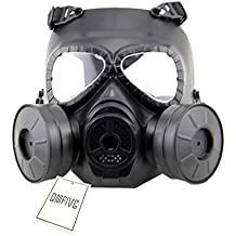 QMFIVE Tactical Protect Mask, M04 Generic Airsoft Paintball BB Gun Full Face Gas Mask with Single Filter …