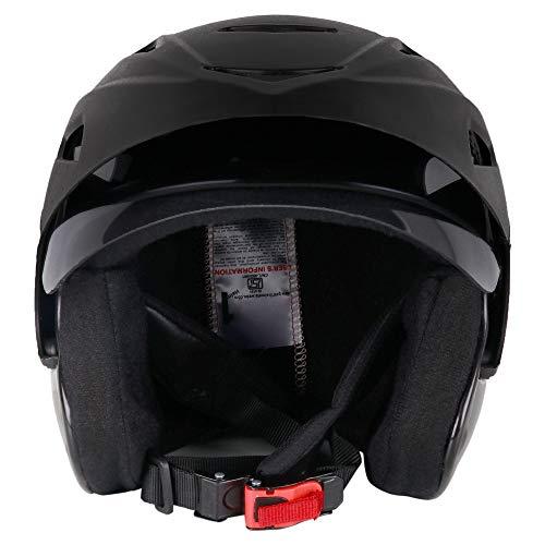Gati1 Half Face Motorbike Helmet for Men (Black)