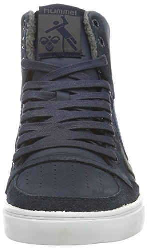 Hummel Slimmer Stadil Duo Oiled High, Sneakers Hautes Mixte Adulte Bleu (Total Eclipse)