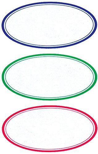 AVERY Zweckform 3742 Marmeladen Etiketten, selbstklebend (wiederablösbare Haushaltsetiketten, 35x70 mm, 9 ovale Aufkleber auf 3 Bogen) bunt - Avery-etiketten-oval