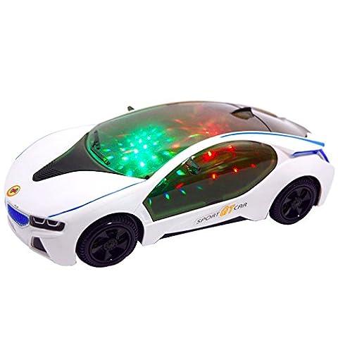 caxmtu 3D Spielzeug Auto LED Blinklicht Musik Sound für Kinder Kinder Weihnachten Geschenk