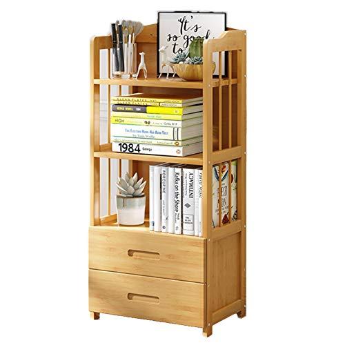 DULPLAY Schublade 3-6 Tier Bücherschrank, Eiche Holz Multifunktionale Bodenstehende Storage Organizer Mord Display lagerung möbel Regal bücherregal-D 50x25x110cm(20x10x43) 50x25x110cm(20x10x43)