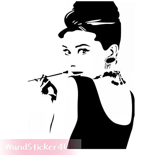 wandsticker4u-audrey-hepburn-aus-fruhstuck-bei-tiffany-56-x-47-cm-schwarz-entfernbare-wandtattoo-wan