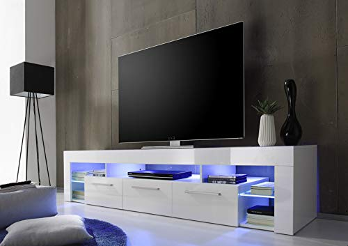 trendteam SC85201 TV-Möbel, Lowboard, Weiß Hochglanz - 3