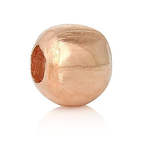 2000x Perles 2mm Or Rose ronde métal