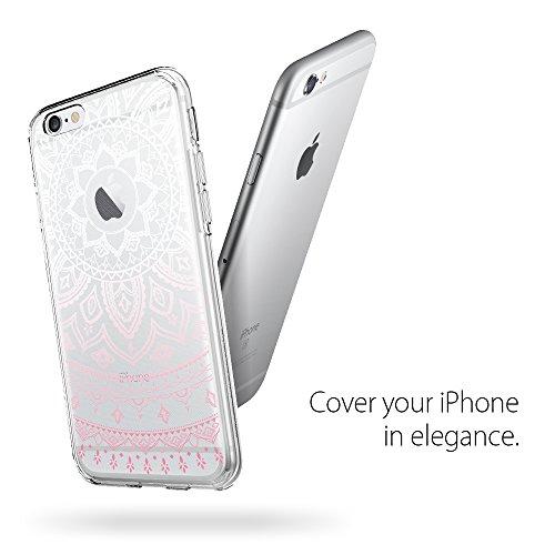 iPhone 6S Hülle, Spigen® [Liquid Crystal Glitter] Glitzer Design [Rose Quartz] Glänzende Soft Flex Premium TPU Silikon Bumper Style Handyhülle Perfekte Passform Schutzhülle für Apple iPhone 6/6S Case  LC Shine Pink