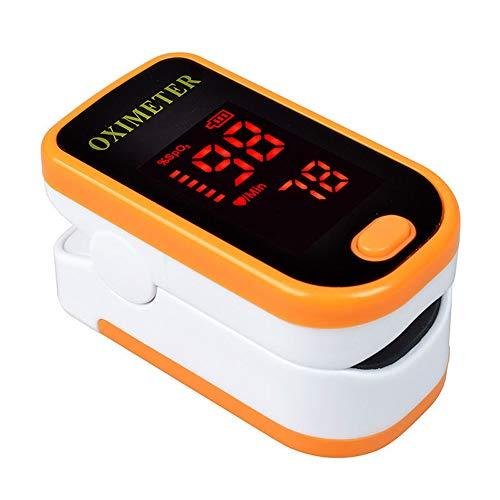 JUZEN Fingertip Pulsoximeter Professionelle Präzision Schlaf Überwachung Pulsmesser Finger Pulsoximeter Mit Lanyard Und Aufbewahrungstasche,Orange -