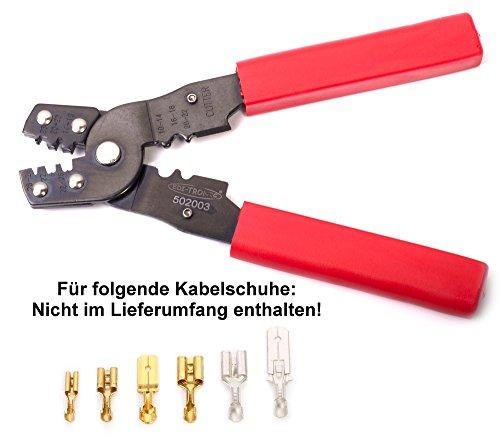 KS Tools 115.1430 Crimpzange f/ür nicht isolierte Kabelschuhe 220mm