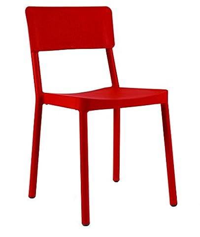 Resol chaise Lisboa - couleur rouge, set de 2 unités