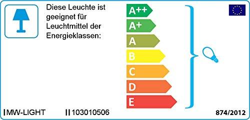 Moderne Deckenleuchte 6 armig chromiertes Metall schwarze Acrylschirme warmes Licht Wohnzimmer Schlafzimmer exkl. 6 * 40W E14 2700K