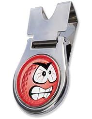 """Am nächsten der """" PINK SMILEY ANGRY """" Gürtel Clip und Magnethalterung GOLF BALL MARKER BY ASBRI GOLF"""