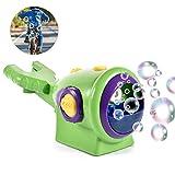 precauti Giocattolo sveglio all'aperto dei bambini della macchina della bolla della bicicletta della macchina della bolla della musica della macchina della bolla della bici della bici elettrica