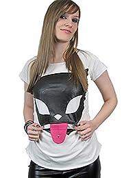 Bye Bye Kitty Fashion de camiseta Lick T White