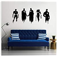 Tatuajes de pared de Vinilo Pegatina Dc Super Hero Justice League Batman Wonder Woman Superman Para