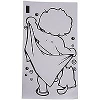 Etiqueta engomada - SODIAL(R)Precioso chico nino Etiqueta engomada del bano de ducha Pared de Cuarto de bano Vinilo DIY calcomania del arte de casa