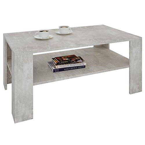 IDIMEX Table Basse de Salon Lorient rectangulaire avec Tablette mélaminé décor béton