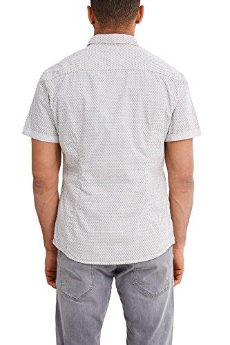 edc by ESPRIT Herren Freizeit Hemd Weiß (Off White 110)
